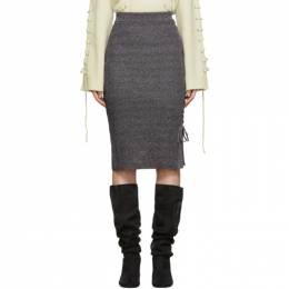McQ Alexander McQueen Multicolor Lace-Up Midi Skirt 559234RNK34