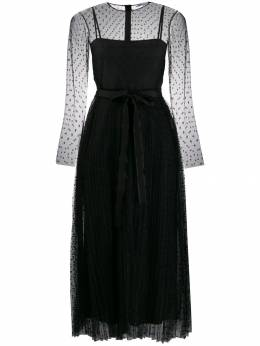 Red Valentino - dotted tulle midi dress VAI03508955989960000
