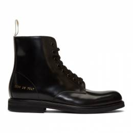 Common Projects Black Standard Combat Boots 2171