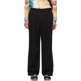 J.W. Anderson Black Pleated Chino Trousers TR04519F-189