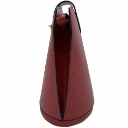 Louis Vuitton Red Epi Leather Cluny Bucket Bag 220755