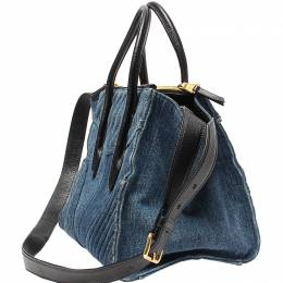 Miu Miu Blue Denim Tote 220426