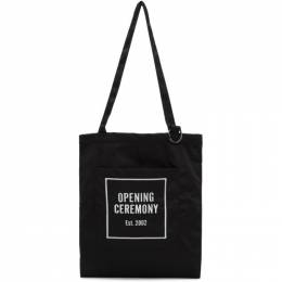 Opening Ceremony Black Logo Tote 192261F04901201GB