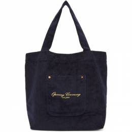 Opening Ceremony SSENSE Exclusive Navy Corduroy Big Pocket Tote 192261F04901501GB