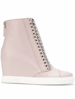 Casadei chain-trimmed wedge sneakers 2R642E080NC964