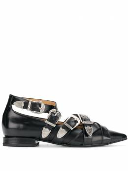 Toga Pulla buckled pointed loafers FTGPWJ92609021