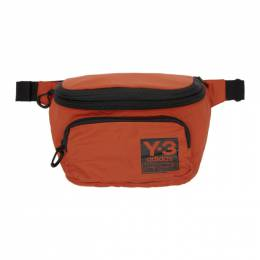 Y-3 Orange Packable Backpack Pouch 192138M17100401GB