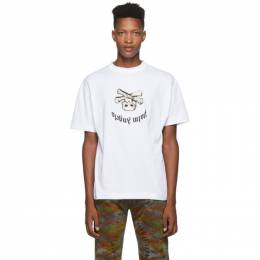 Palm Angels White New Skull T-Shirt PMAA001F194130290188