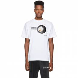 Palm Angels White Egg T-Shirt PMAA001F194130390188
