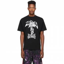 Palm Angels Black Statue T-Shirt PMAA001F194130011088