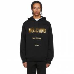 Moschino Black and Gold Couture Hoodie 1731 5227