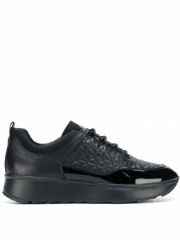Geox - woven lace-up sneakers 5TC68560C99999393635