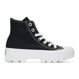 Converse Black and White CTAS Lugged Hi Sneakers 565901C