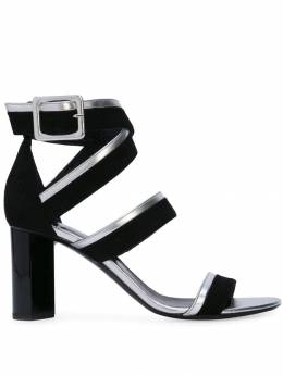 Pierre Hardy босоножки 'Alpha' RC08ALPHASANDAL80MMSUEDEKIDLAMBBLACKSILVER