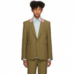Paul Smith Brown Contrast Collar Single-Button Blazer M1R-1937-A00832
