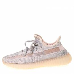 Yeezy x Adidas Light Pink/Grey Cotton Knit Boost 350 V2 Synth Non-Reflective Sneakers Size 42 225905
