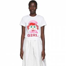 White Cotton Girl T-Shirt Comme des Garcons Girl ND-T011-051