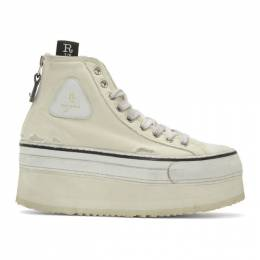 R13 Off-White Platform High-Top Sneakers 192021F12700203GB