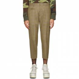 R13 Brown Tailored Drop Trousers 192021F08701303GB