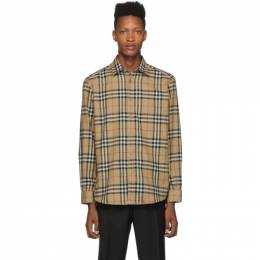 Burberry Beige Check Flannel Chambers Shirt 192376M19204808GB