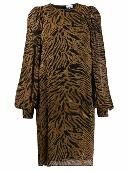 Ganni - tiger print shift dress 35955066560000000000