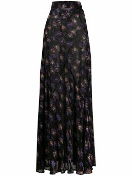 Ganni - floral pleated skirt 68955066080000000000
