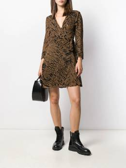 Ganni - tiger print wrap dress 96955066580000000000