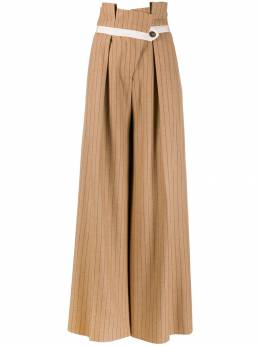 Golden Goose - striped palazzo trousers WP996A09556993500000