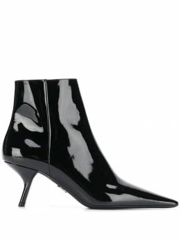 Prada - sculpted heel ankle boots 99LF6656699559069300