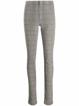 Chloé - checked zip-detail trousers WPA60969955939330000