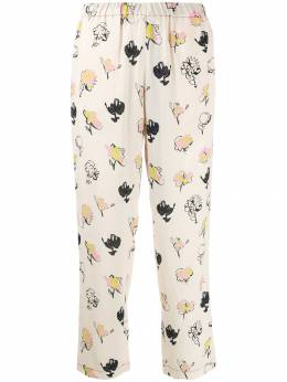 Marni - floral print cropped trousers AO95A60TV39693366883