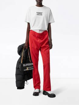 Burberry - embroidered logo oversized T-shirt 99369558365300000000