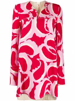 Marni - abstract print tunic top A6635U6TV39593366386