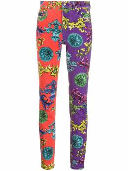 Versace Jeans Couture - baroque print skinny jeans UB6YZSL65K9559603900