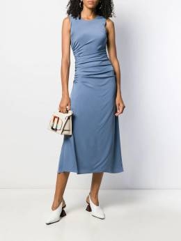 Theory - sleeveless ruched flared dress 60665955663090000000
