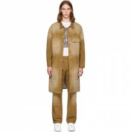 Tan Canvas Workwear Trench Coat Billy 192086M17600102GB
