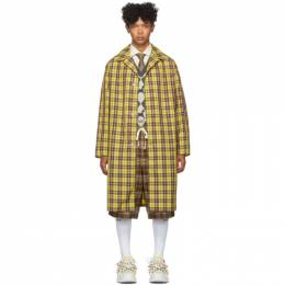Gucci Yellow and Burgundy Nylon Coat 576232 ZACCH
