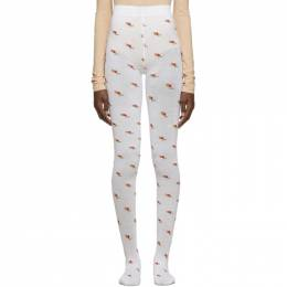Marc Jacobs White The Pointelle Tights 192190F07600301GB
