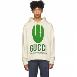 Gucci Off-White and Green Manifesto Hoodie 192451M20202207GB