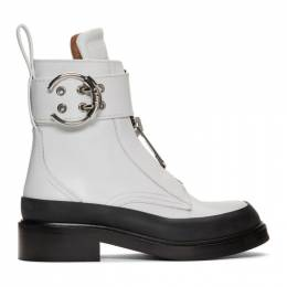 Chloe White Roy Ankle Boots 192338F11300808GB