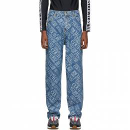 Versace Jeans Couture Indigo Baggy Jeans 192202M18600503GB