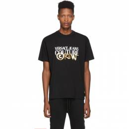 Versace Jeans Couture Black and Gold Crew T-Shirt 192202M21301303GB