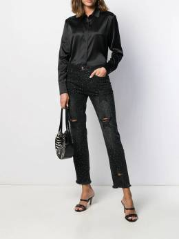 Philipp Plein - distressed high rise boyfriend jeans CWDT9059955395050000