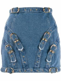 Versace Jeans Couture - buckle detail mini skirt UB399AOB3Q9559558300