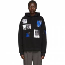 Raf Simons Black Patch Picture Hoodie 192287F09700103GB