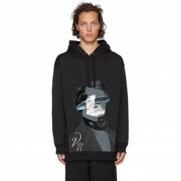 Valentino Black Undercover Edition V Face UFO Print Hoodie 192476M20201006GB