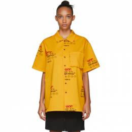 Off-White Yellow Industrial Holiday Short Sleeve Shirt OMGA090F19F340036000