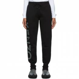 Kenzo Black Sport Glitter Logo Lounge Pants 192387F08600102GB