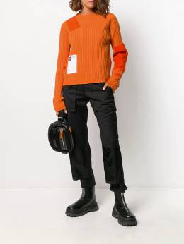 Heron Preston - patchwork crew-neck sweater E663E998396969988955