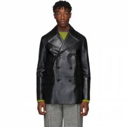 MARNI Black Leather Coat 192379M18100101GB